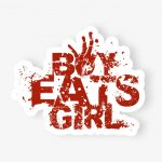 boy eats girl decal sticker