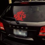 boy eats girl decal sticker car