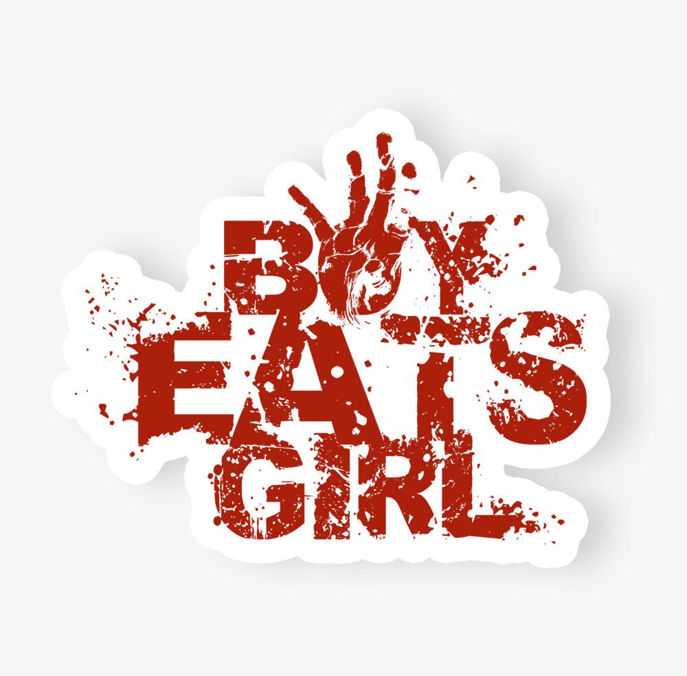 boy eats girl decal sticker